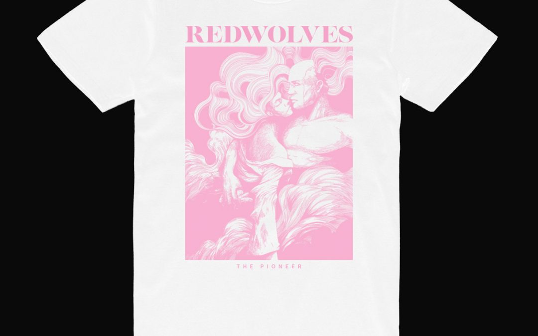 The Pioneer T-shirt white w/pink print